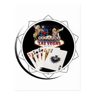 Ficha de póker negra del signo positivo postales