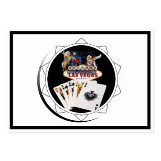 Ficha de póker negra del signo positivo tarjetas de visita grandes
