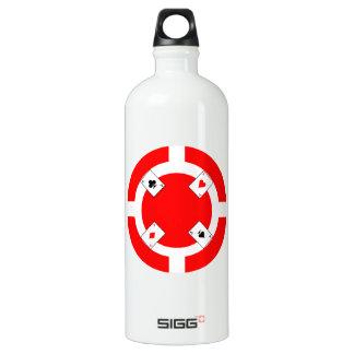 Ficha de póker - rojo botella de agua