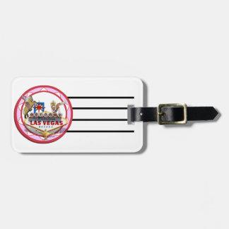 Ficha de póker rosada de Las Vegas Etiqueta Para Maleta