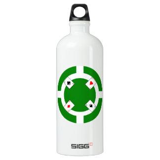 Ficha de póker - verde botella de agua