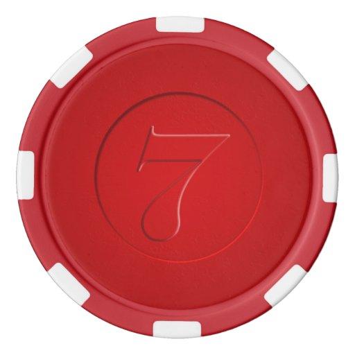 Fichas de póker afortunadas de la apariencia juego de fichas de póquer