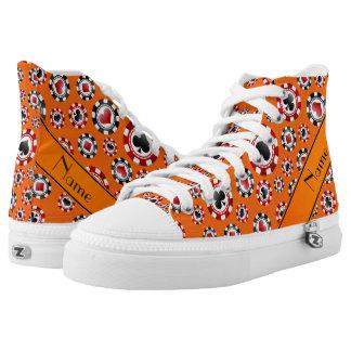 Fichas de póker anaranjadas conocidas zapatillas
