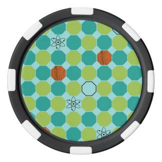 Fichas de póker atómicas de los octágonos fichas de póquer