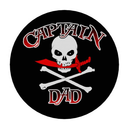 Fichas de póker de capitán Dad