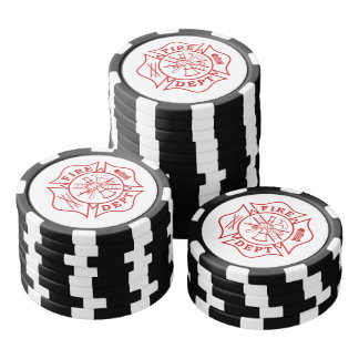 Fichas de póker de la arcilla de la cruz maltesa fichas de póquer