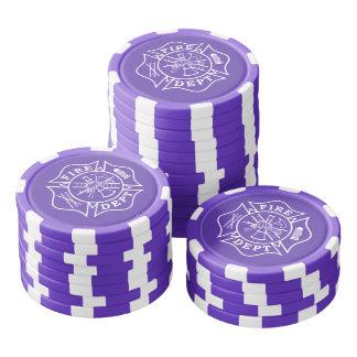 Fichas de póker de la arcilla de la cruz maltesa juego de fichas de póquer