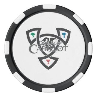 Fichas de póker de la arcilla del nudo de DAoC, Juego De Fichas De Póquer