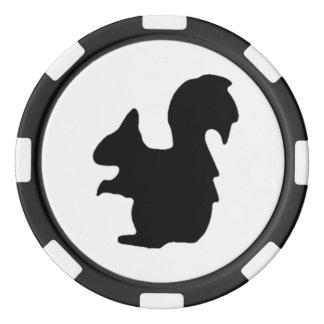 Fichas de póker de la ardilla negra fichas de póquer