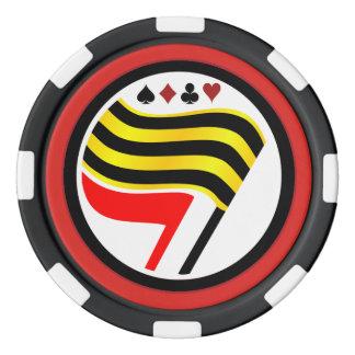 Fichas de póker de la bandera del oro fichas de póquer