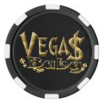 Fichas de póker del bebé de Vegas Juego De Fichas De Póquer