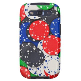 Fichas de póker del casino samsung galaxy SIII funda