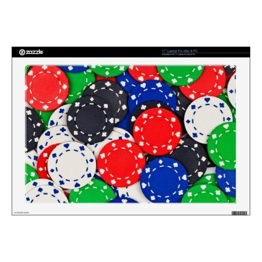 Fichas de póker del casino skins para 43,2cm portátiles