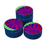 Fichas de póker dobladas de las dimensiones fichas de póquer