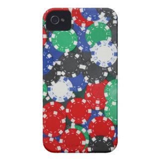 fichas de póker iPhone 4 Case-Mate carcasas