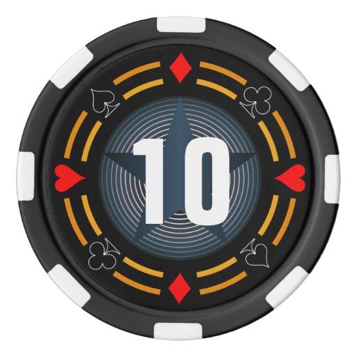 Fichas de póker juego de fichas de póquer