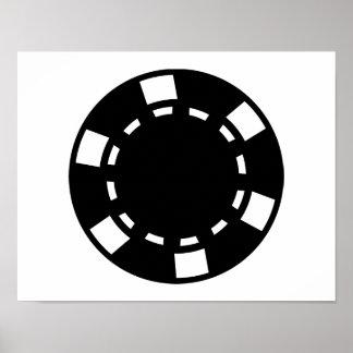 Fichas de póker negras póster