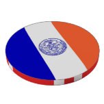 Fichas de póker patrióticas con la bandera de New  Fichas De Póquer