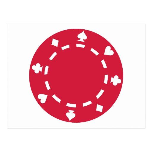 Fichas de póker postal