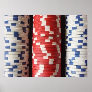 Fichas de póker póster