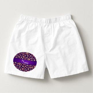 Fichas de póker púrpuras conocidas personalizadas calzoncillos