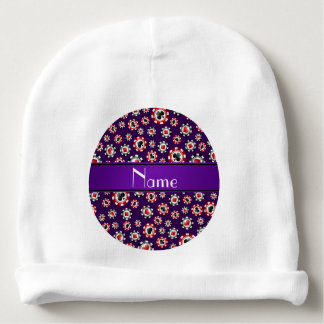 Fichas de póker púrpuras conocidas personalizadas gorrito para bebe