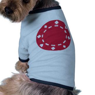 Fichas de póker ropa de mascota