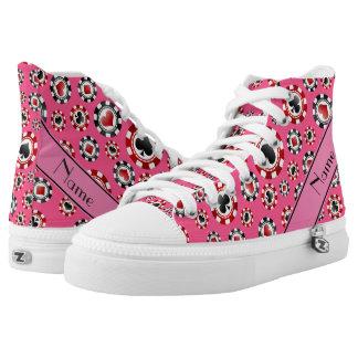 Fichas de póker rosadas conocidas personalizadas zapatillas