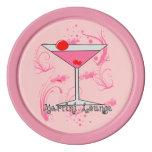 Fichas de póker rosadas de Martini - del salón de Fichas De Póquer