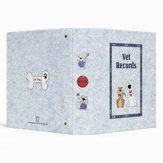 """Fichero de expedientes veterinario lindo divertido carpeta 1 1/2"""""""