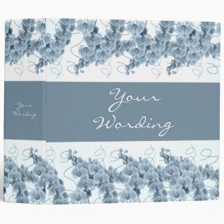 Ficheros de las orquídeas azules y álbumes elegant