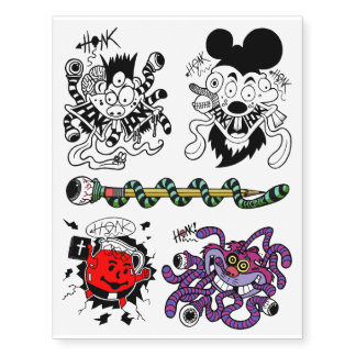 Fickles The Clown Honk Temporary Tattoos! Temporary Tattoos