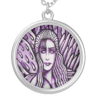 fiction round pendant necklace