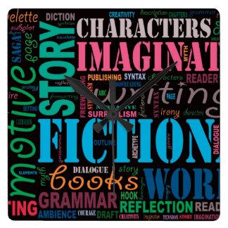Fiction Writer's Word Art Clock