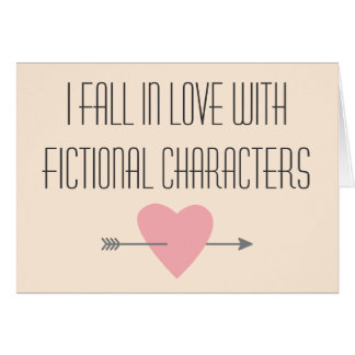 Fictional Characters Reading  Booklover Card