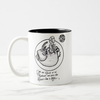 "FICTS ""Elephant Giggles"" 2-Tone Mug"