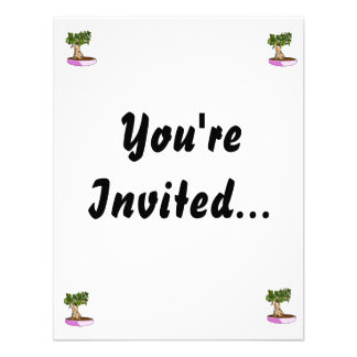 Ficus Bonsai Purple Tray Custom Invites