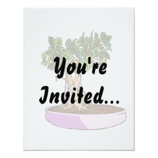 Ficus Bonsai Purple Tray 4.25x5.5 Paper Invitation Card