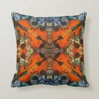 """Fiddle 1 Polyester Throw Pillow 16"""" x 16"""""""