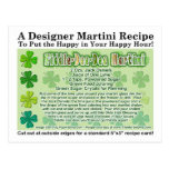 Fiddle Dee Dee St. Patrick's Day Martini Card Post Cards