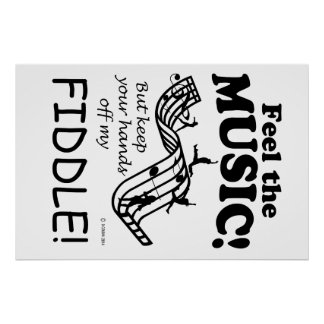 Fiddle Feel The Music Poster
