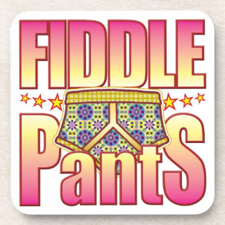 Fiddle Flowery Pants Drink Coaster