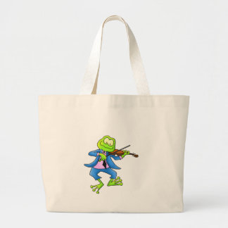Fiddle Frog Canvas Bags