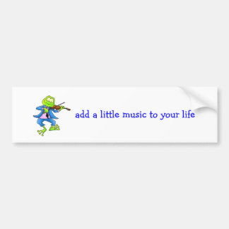 Fiddle Frog Car Bumper Sticker