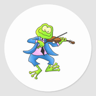 Fiddle Frog Classic Round Sticker