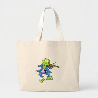 Fiddle Frog Large Tote Bag