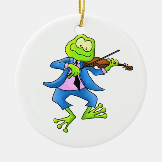 Fiddle Frog Ornament