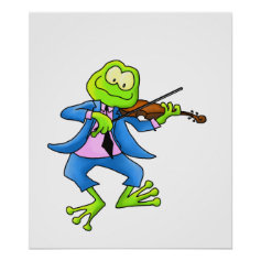 Fiddle Frog Posters