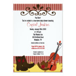Fiddle, Hat & Boots 5x7 Baby Shower Invitation