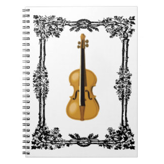 fiddle in the middle of frame notebook